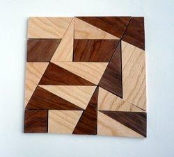 2010 - Casse-tête - Fusiun dal Quadrats - Roland Koch - grand carré en 2 couleurs