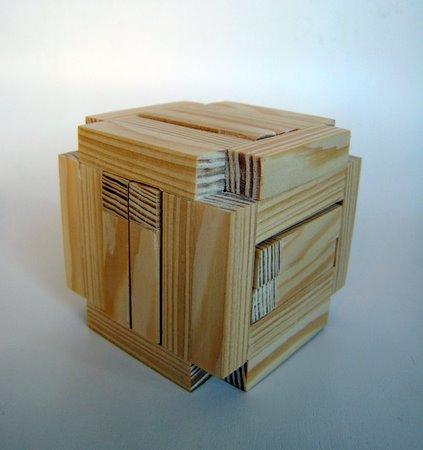 Casse-tête - Board 6 boxed burr