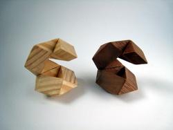 Casse-tête - boule 2 (brette) les pièces