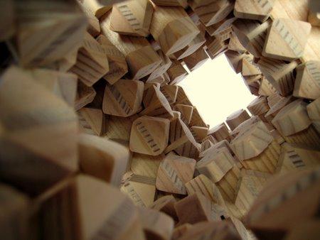 Casse-tete - Cube 3 Crecelles - Gros plan