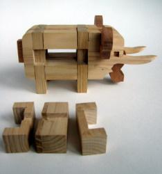 Casse-tête - Elephant - retrait des pièces du ventre