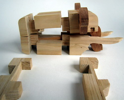 Casse-tête - Elephant - sans les pieds