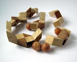 Casse-tête - Four Marbles - Vaclav Obsivac - les pièces