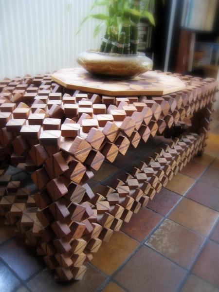 Casse-tête - Table basse Crécelles