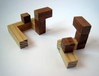 Casse-tete - Treillis 3D gyb - les deux types de pièce