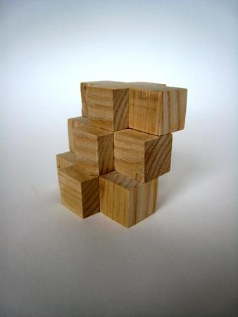 Casse-tête - 8 cubes (l'escalier)