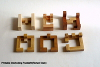 Printable Interlocking Puzzle#4(Richard Gain)