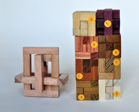 Casse tete  mine s cube in cage 333  Mineyuki Uyematsu  pieces